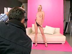 Hot blonde babes ass on a camera mans hard cock