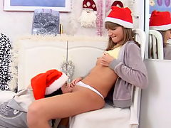 Russian teens giving each anal present for Xmas