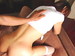 Brunette shemale fucking and sucking hard dick
