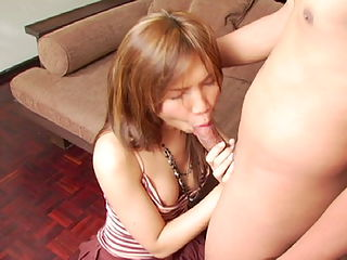 Busty bitch with cock between her legs fucking
