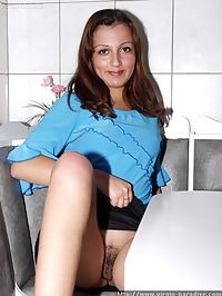 Gorgeous virgin shows her springy tits and wet tight slit