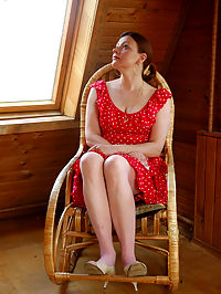 Stockinged mature loves pink stockings