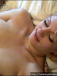 Cute young blonde blowing cock and being banged