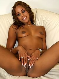 Curly haired ebony fucked by white cock