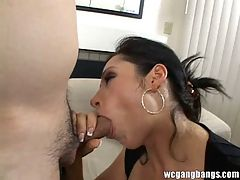 MILF goes for a gangbang action facialized hardcore