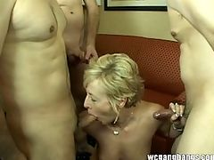 MILF enjoys fucking and sucking swallow cum