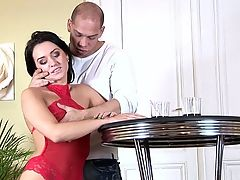 Naughty milf Adriana Blue gets her tight pussy plowed by a thick cock