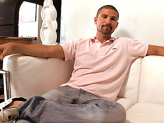 My boy Max is on the couch acting like hes asleep. Waiting for the cock hungry MILF Devon James to arrive. We figured why not act like hes asleep.