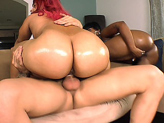 Nothing better to satisfy the BIGGEST ASS CRAVING than Pinky and Cherokee. These two beautiful asses go pound for pound fucking and sucking. Pinky and Cherokee with their fat asses decided to go join