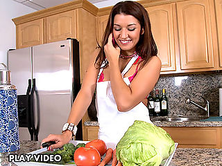 Can you imagine your hot MILF teacher inviting you over for a cold salad and some hot sex? Well, in this MILF lesson, Ms. Ann Marie Rios gets her rocks off on some young student cock.