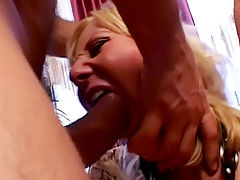 Movies of sexy chick in fishnets anal fucked : Cheryl has a cute little pierced pussy but that wasnt where he wanted to fuck her. She sucked each of the guys cocks and then they both went to fuck her hot holes at the same time as she took a hard double penetration. Her asshole looked like a black hole as it was left gaping wide from the big anal drilling that it took and she was left cum soaked!