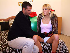 Lenka : Petite teenage blondie gets a cock in her tight asshole