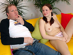 Jana : Teenager with pigtails gets a rough anal stuffing session