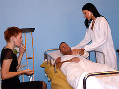 Eliska and Suzanna : Young girls are getting anal screwed in a hospital bedroom