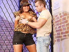 Defrancesca Gallardo : Very horny guy terrorizing a very sexy chicks tight asshole