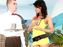 Sorana : Chick loves hot hardcore poophole penetration by a waiter
