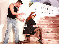 Electra Angels : Cute and very horny redhead anally fucked by her boyfriend