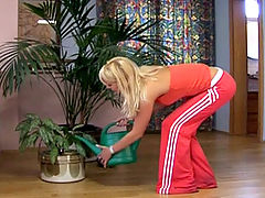 Terry aka Carla Cox : Anal pumped teenager moans when he enters her tight asshole