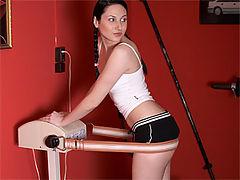 Alina : Horny senior fucks a teenage fitness chick wild in the gym