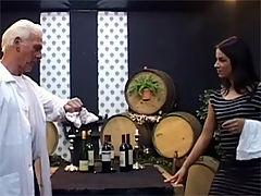 Clarissa : This senior waiter sticks his cock in this beautiful babe
