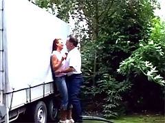Lisa and Dirk : Dirty senior banging a redhead with his experienced cock