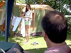 Veronica and Dirk : Horny senior fucking a stunning willing teen on the camping