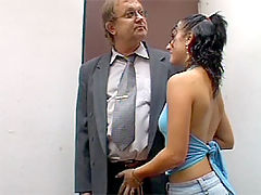 Christina and Tim : Teenie fucking a dirty old man to sell her crappy house