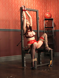 Beautiful Emily bondage ropes and forced orgasms : Emily sure is a fan favorite around here, and we like her too, so it only makes sense to have her back as often as we possibly can. Ogre makes sure that she is secured in place...shes not going anywhere. Then, the vibe is dragged out and thrust upon her pussy. Emilys amazing body is a beauty to behold as she gyrates...Her perfect tits heave, her lovely torso so tightly bound that she can only accept what were handing her...Her moans of pleasure increase in pitch as she carries on towards a drooling orgasm...