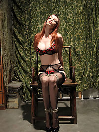 Emilys screaming Bondage Orgasms. : Emily is in quite the predicament... Bound tightly to the chair, she struggles mightily as perverse Ogre tends to needs to confine her even further. Her moans are muffled behind her wrapped mouth but still, the sounds of her whimpering escape. The vibes speed is increased and Emily comes to the conclusion that this will end with one result- a screaming orgasm as Ogre has his way...