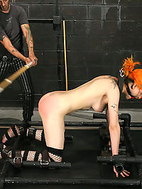 Beautiful Scar in tough restraints! : This week we bring you the very sexy Scar 13, who has been part of the BDSM community for several years. She is paired up with Sir Nik who is more than qualified to issue a great deal of impact for this seasoned player. In this pain session we show Scar why we call this site Strict Restraint, and after the first position she is starting to understand that even though she has been around the block, she hasnt been down this street before. Every position gets a little tougher and the pain keeps climbing in this ultra intense update. By the end of the day poor little Scar has been put through the paces and is completely spent....