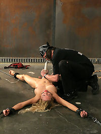Pain slut punished! : Rains a pain slut who enjoys bondage in both her personal and professional life. She loves to cum and loves to be pushed so we decided to put her body and mind to the test... Rains session was one of extreme intensity, and quite possibly, one of the most intense we have ever done. This fine damsel was pushed far beyond the outer limits of her tolerance. She came hard and begged for more as she was run through her paces all they way until the end as she received a full body wrap on the Dungeon floor...