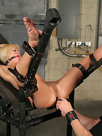 Rough enema bondage! : Her petite body can take lots of punishment and Mason makes sure that she gets as much as she can take. He gives her a body a rest only to probe her ass and pussy, and then back to the pain. Mason gives her a nice cleansing and then turns little Rebecca into a fountain for our viewing pleasure. He finds out that size is one thing that Rebecca can take a great deal of, so he decides to push her pussy into overdrive by inserting the head of the magic wand inside of her while the G5 attacks her swollen clit. Every hole on her body is penetrated and used the way her Master wants, and she is more than happy to please him....
