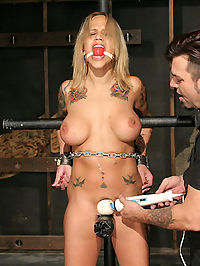 Big tit Latina hard bondage! : Regan Reese is an adorable Latina with an incredible body. Shes been featured on our other DungeonCorp sites and we were eagerly awaiting her Strict Restraint debut. Greeted by her Master, Regan immediately struggles as Liam begins his physical and emotional domination on his newfound slave. Her supple body proves to be the perfect playground as Regan is put through her paces in a variety of strenuous restraints and mind-warping orgasms.