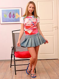Its always so pleasant to watch this cute blonde teens nice show off in this hot gallery.
