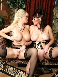 Gemini Starr and Victoria Jolie big breasted bunnies mash their tits together to start off this wickedly hot lesbian romp!