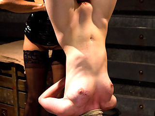 Milking Her Tits : Welcome back the adorable redheaded slut Marie McCray to Whipped Ass. Marie loves kinky sexy, lesbian punishment and bondage and was excited to be dominated by Isis Love. She takes heavy whipping and caning, clothes pins and a hard strap-on fucking, suspension and brutal orgasms from the sybian. But, the hottest part about this shoot is when Isis starts to torture Maries tits. They drip with milk and wont stop! Isis takes advantage of this ripe slut and milks her tits dry with torture.
