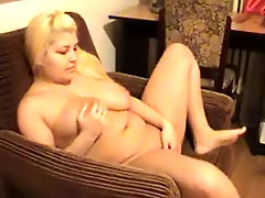 Blonde wife fucked on the chair