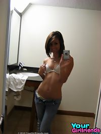 Skinny hot teen with small perky tits and nice nips sells her hot selfpics here.