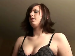 Cute GF pulls out her mans cock, drops a load of lube on it and strokes him off like a good girlfriend