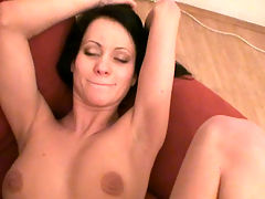 Hot home video of a big booby girlfriend getting her pussy hammered by her boyfriend