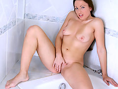 Yudita showers and masturbates her naughty pussy when she cant have cock.