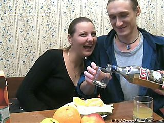 Sveta is sharing drinks with her long haired boyfriend and the amateur chick is getting pretty well drunk. He keeps pouring her drinks and she keeps throwing them back knowing full well what hes planning. She knows that shes a hot piece of ass and that he wants to fuck her and shes not against the idea. She wants her wet pussy to be smashed by his big cock but before they get to that place theyre going to fool around a little bit. Theres kissing and caressing and its really quite sexy watching them play this game together