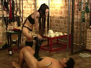 Female Dominated World : Payback time this female dominatrix tortures hes slave as men does in bondage movies. The tables had turned and this femdom will give no mercy to these bad boy slaves. These male slaves are burn with candle wax whipped spanked and gagged. See how femdoms punish their slaves in comparison to bondage girls.