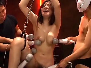 Tortured Japanese Slave : Nice vintage bondage movie of pure pain and torture. This Bondage girls body parts are abused including her every hole with any objects that would vibrate and enhance her orgasm. See a fucking machine inserted in her tight pussy to help her blow her load.