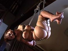 Rough Sex Rope Bondage : Gagged like a pig strangled like a pig and abused like a pig only difference is its a good looking Japanese bondage girl. See her get treated like a pig about to be slaughtered.