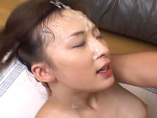 Asians Cum Brushing Cum Eating and Asian Bukkake VIP Summer In 2004 : Three Asian sluts get fucked hard while horny guys deposit warm cum on their pretty faces.
