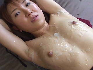 Extreme Milky Cat Bukkake Videos Cum Covered Asians : Miku gets messy cum facials throughout this movie.