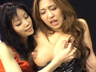 Deep Splash Lesbians : In this movie Mizutani Hitomi squirts milk from her tits and Akane Hotaru squirts her pussy juice. They engage in lesbian acts using different dildos to pleasure each other.