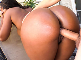 Chocolate Booty! : Rane Revere is a ebony goddess with a whole lot a body. She has perfect tits, a sweet candy pussy and a juicy ass thats made for back-shots. David Loso gets the absolute pleasure of having this chocolate booty all over his cock. Now this is what I call heaven sent ass. David thought so too. His endulges himself between her ass cheeks and goes to town. Dont miss out!