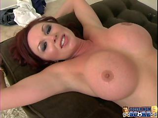 Milfs dont get much hotter! : It should be illegal for a MILF to be this hot! Felony Foreplay is a sex-crazed redhead and shes 100 times better than jailbait because shes an experienced soccer mom who can juggle a set of balls two at a time. She took on two young and virile soccer studs and treated their sweaty bodies to the MILF pussy express. They drove straight up the middle of her sopping wet MILF twat and the only thing that kept the cock from popping out the other end was the stiff one in her throat. These guys spit-fucked her with a cock on either end to keep her mouth busy and her pussy happy. Felony was so satisfied that she made them leave two loads of hot milk all over her face and tits.Everything is better when you do it as a team!Monique